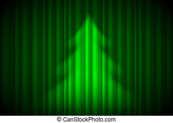 Christmas tree in theatre style. - Christmas tree in...