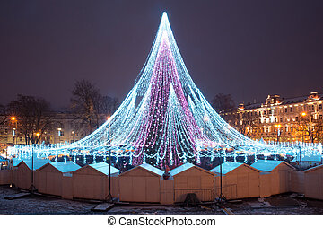 Christmas tree in Vilnius, Lithuania