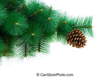 Christmas tree isolated on the white background