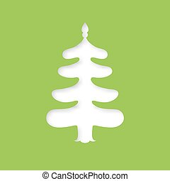 Christmas tree. Laser cutting template - Christmas stencil...