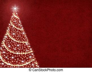 Christmas Tree Lights - A Christmas tree illustration on a ...