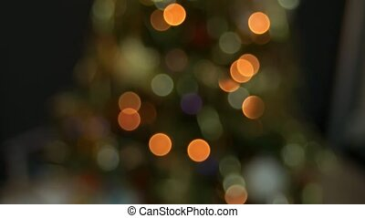 Christmas tree lights and decorations
