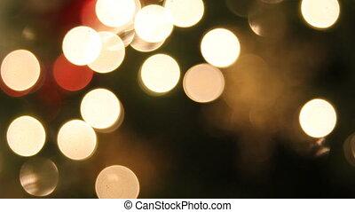Christmas Tree Lights and Snowflake