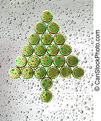 Christmas tree made from bottle caps