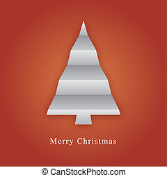 Christmas tree made from paper fold