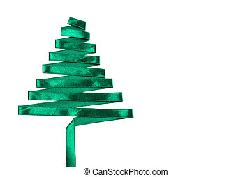 christmas tree made from ribbon.