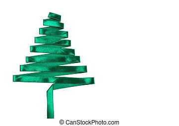 christmas tree made from ribbon.