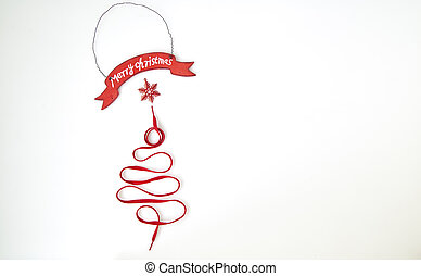 christmas tree made from rope