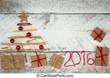 Christmas tree made of cardboard