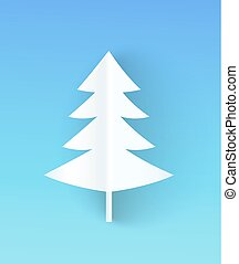 Christmas Tree Made of Paper Vector Illustration