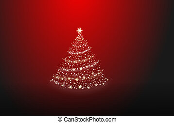 Christmas tree made of stars