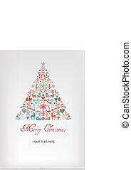 Christmas tree - Merry Chrismas greeting card