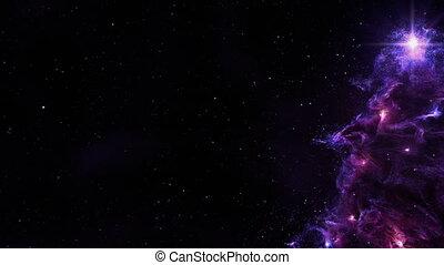 Christmas Tree Nebula Background Full Loop Purple - Computer...