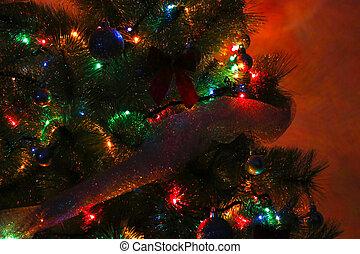 Christmas tree night detail