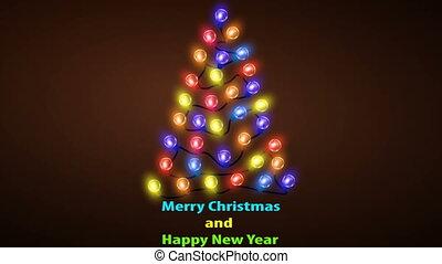 Christmas tree of colorful LED lights