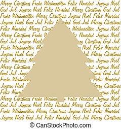 Christmas tree on christmas wishes