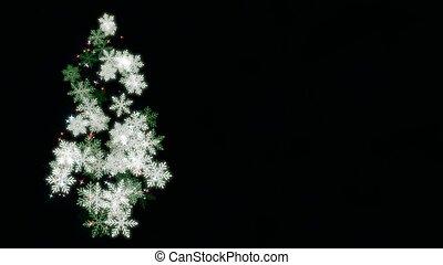 Christmas tree on dark background