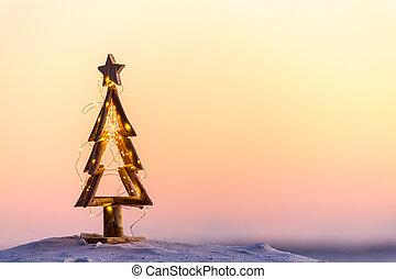 Christmas tree on the beach in Australia