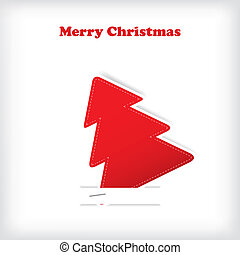 Christmas tree on the white background
