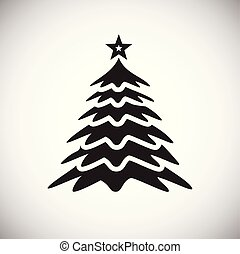 Christmas tree on white background for app or web using