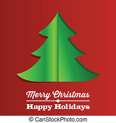 Christmas Tree Paper Background