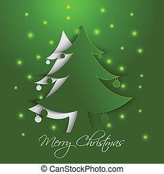Christmas tree paper card