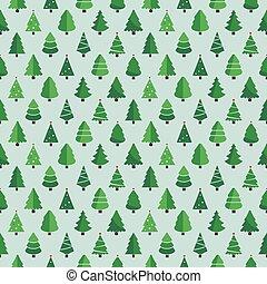 christmas tree pattern blue background
