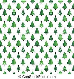 christmas tree pattern white background
