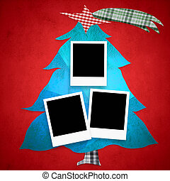Christmas tree photo frames