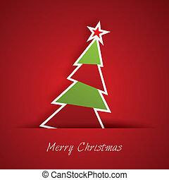 Christmas Tree - Postkarte, Karte, Geschenkpapier, Plakat,...