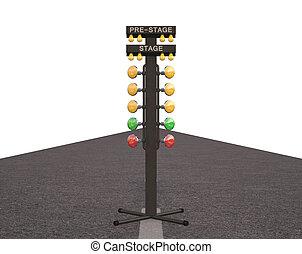 Christmas Tree Raceway - Christmas tree starting system used...