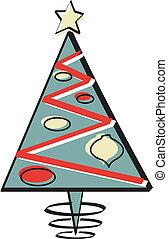 Christmas Tree Retro Vintage 1950s