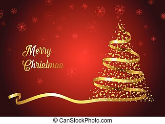Christmas tree ribbon background
