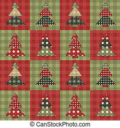 Christmas tree seamless pattern 3 - Christmas tree seamless ...