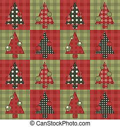 Christmas tree  seamless pattern 4