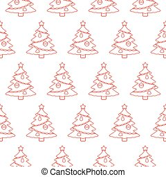 Christmas tree. Seamless pattern. Vector background.