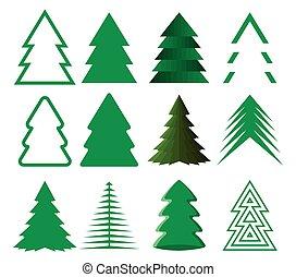 Christmas tree seamless vector