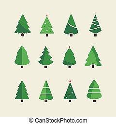 christmas tree set background