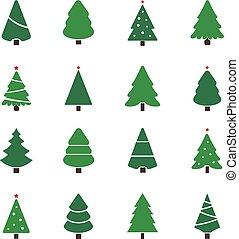christmas tree set illustration