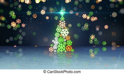 christmas tree shape and reflection loop