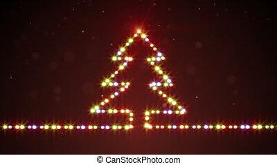 christmas tree shape lights loopable - christmas tree shape...