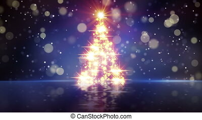 christmas tree shape of glares loop