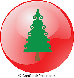 christmas tree shiny button