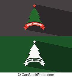 Christmas tree sign icon.