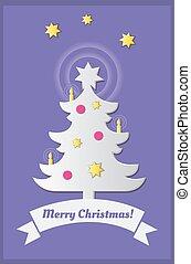Christmas tree. Silhouette