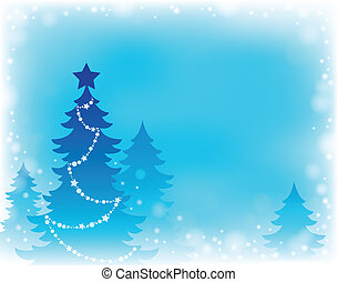 Christmas tree silhouette theme 2