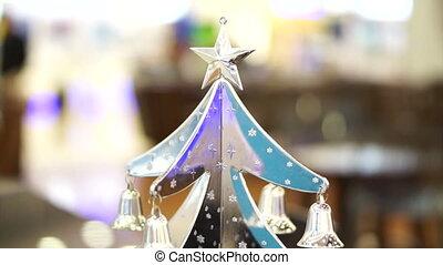 Christmas tree silver ornament