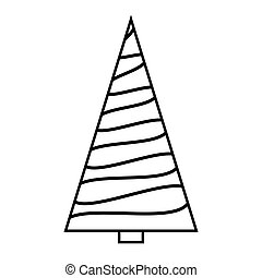 Bare tree cartoon outline vector design isolated on white ...