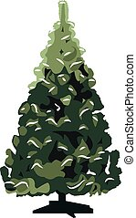 Christmas tree snow vector illustration