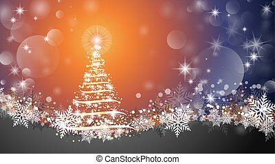 Christmas tree abstract background. Sparkling Christmas tree as symbol of Happy New Year and Merry Christmas holiday celebration. Bright shiny design Vector illustration